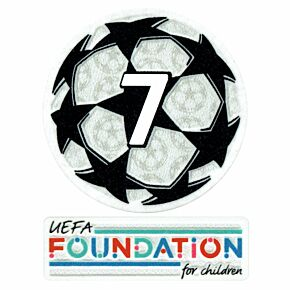 21-22 UCL Starball 7 Times Winner + UEFA Foundation Patch Set