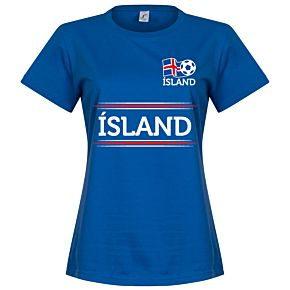 Iceland Team Womens Tee - Royal