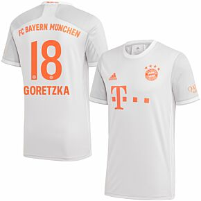 20-21 Bayern Munich Away Shirt + Goretzka 18 (Official Printing)