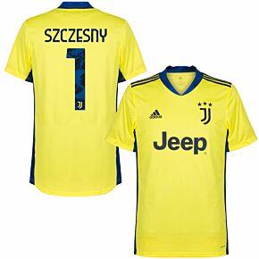 20-21 Juventus Home GK Shirt + Szczesny 1 (Official Printing)