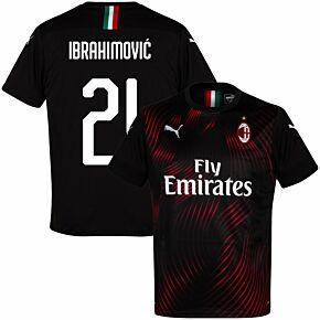 19-20 AC Milan 3rd Shirt+ Ibrahimovic 21 (Fan Style)
