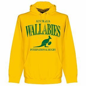 Australia Wallabies KIDS Rugby Hoodie - Yellow