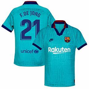 19-20 Barcelona 3rd Shirt - Kids + F.de Jong 21 (Fan Style)