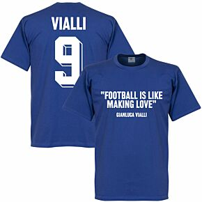 Vialli 9 'Football Is Like Making Love' Tee