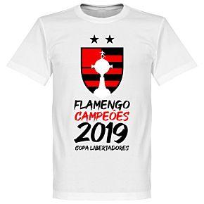Flamengo 2019 Copa Libertadores Champions T-Shirt - White