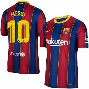 20-21 Barcelona Home Shirt + Messi 10 (Match Pro Printing)