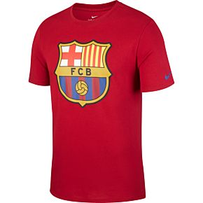 Barcelona Crest Tee 2018 / 2019 - Red