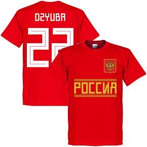 Russia Team Dzyuba 22 Tee - Red