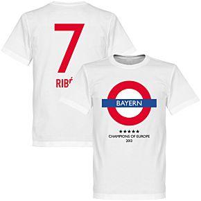 Bayern Underground Tee + Ribéry 7 - White