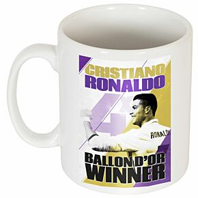 Ronaldo 4 Times Ballon d'Or Winners Mug