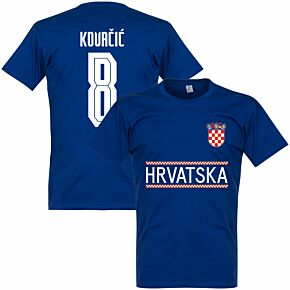 Croatia Kovacic 8 Team T-shirt - Ultramarine
