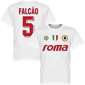 Roma Vintage Falcao 5 Team Tee - White