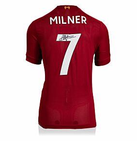 James Milner Back Signed Liverpool Home 19-20 Shirt - (Fanstyle)