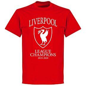 Liverpool 2020 League Champions Crest KIDS T-shirt - Red