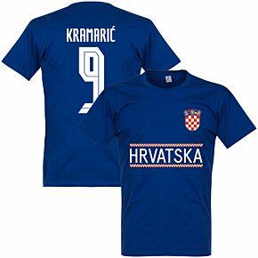 Croatia Kramaric 9 Team T-shirt - Ultramarine