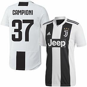 Juventus Home Campioni 37 Jersey 2018 2019 (Fan Style Printing)