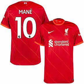 21-22 Liverpool Home Shirt + Mane 10