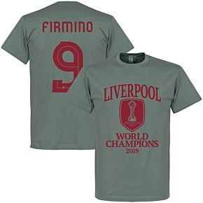 Liverpool World Club Champions 2019 Firmino 9 T-shirt - Zinc