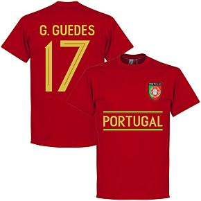 Portugal G. Guedes 17 Team Tee - Red