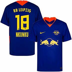 20-21 RB Leipzig Away Shirt + Nkunku 18 (Official Printing)