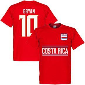 Costa Rica Bryan 10 Team Tee - Red