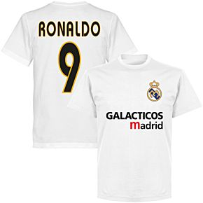 Galácticos Madrid Ronaldo 9 Team T-shirt - White