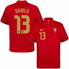 20-21 Portugal Home Shirt + Danilo 13 (Official Printing)