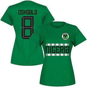 Ngieria Team Womens Oshoala 8 Tee - Green