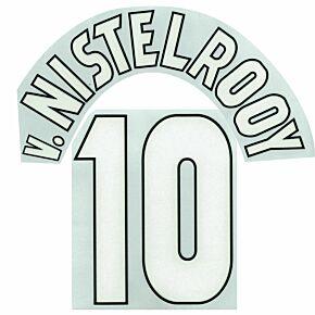 v.Nistelrooy 10 - 1 Star C/L Style (Dual-Layer Flock Retro Printing)