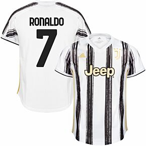 20-21 Juventus Home Shirt - Kids + Ronaldo 7 (Official Printing)