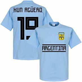 Argentina Kun Agüero 19 Team Tee - Sky