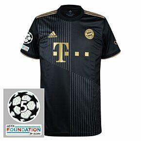 21-22 FC Bayern Munich Away Shirt + UCL 5 Times Winner Patches