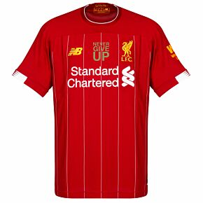 New Balance Liverpool Home Jersey 2019-2020 inc Never Give Up Transfer