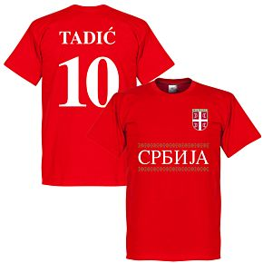 Serbia Tadic 10 Team Tee - Red
