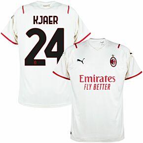 21-22 AC Milan Away Shirt + Kjaer 24 (Official Printing)