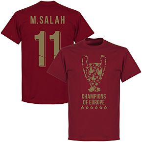Liverpool Trophy M. Salah 11 Champions of Europe Tee - Chilli Red