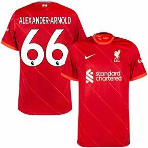 21-22 Liverpool Home Shirt + Alexander-Arnold 66