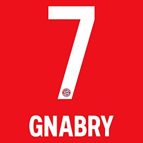 Gnabry 7 (Official Printing) - 20-21 Bayern Munich Home
