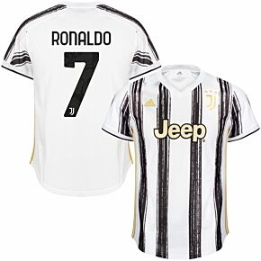 20-21 Juventus Home Shirt + Ronaldo 7 (Official Club Printing)