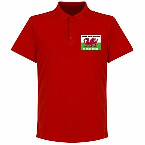 Wales, Golf, Madrid, In That Order Polo Shirt - Red