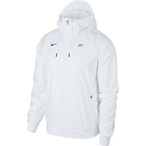 20-21 PSG Woven Authentic Windrunner Jacket - White