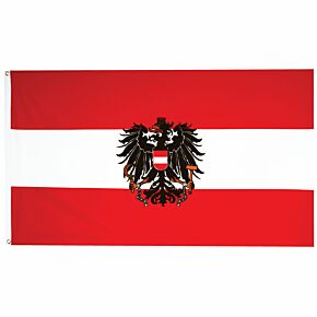Austria Large Flag with Eagle