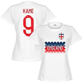England Kane 9 Team Womens Tee - White