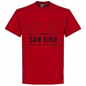 AC Milan Home Coordinate Tee - Tango Red