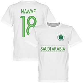 Saudi Arabia Nawaf 18 Team Tee - White