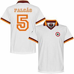 80-81 AS Roma Away Retro Shirt + Falcão 5
