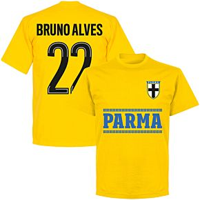 Parma Bruno Alves 22 Team T-shirt - Yellow
