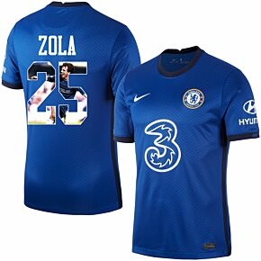 20-21 Chelsea Home Shirt + Zola 25 (Gallery Printing)