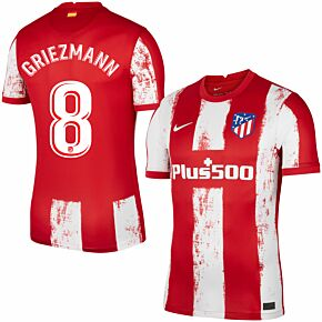 21-22 Atletico Madrid Home Shirt + Griezmann 8 (Official Printing)