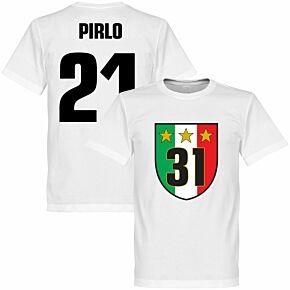 Juventus 31 Campione Pirlo Tee - White